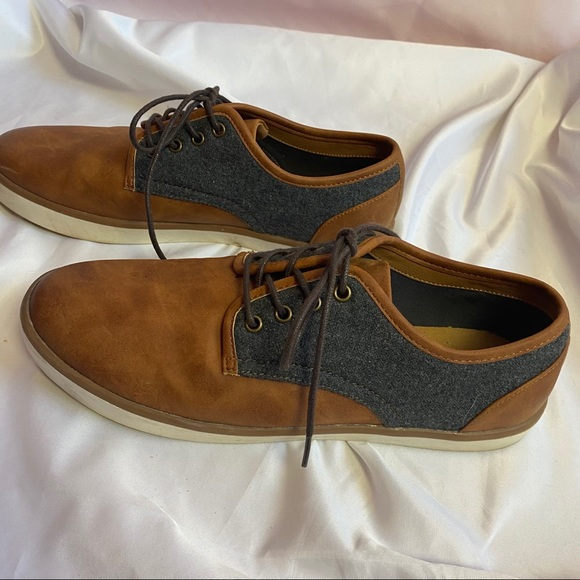 Sonoma Leather and Denim Oxford Style Shoes sz 8.5